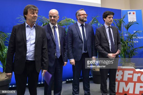 French Ecology Minister Nicolas Hulot French Minister of National Education JeanMichel Blanquer High Commissioner for Social and Solidarity Economy...