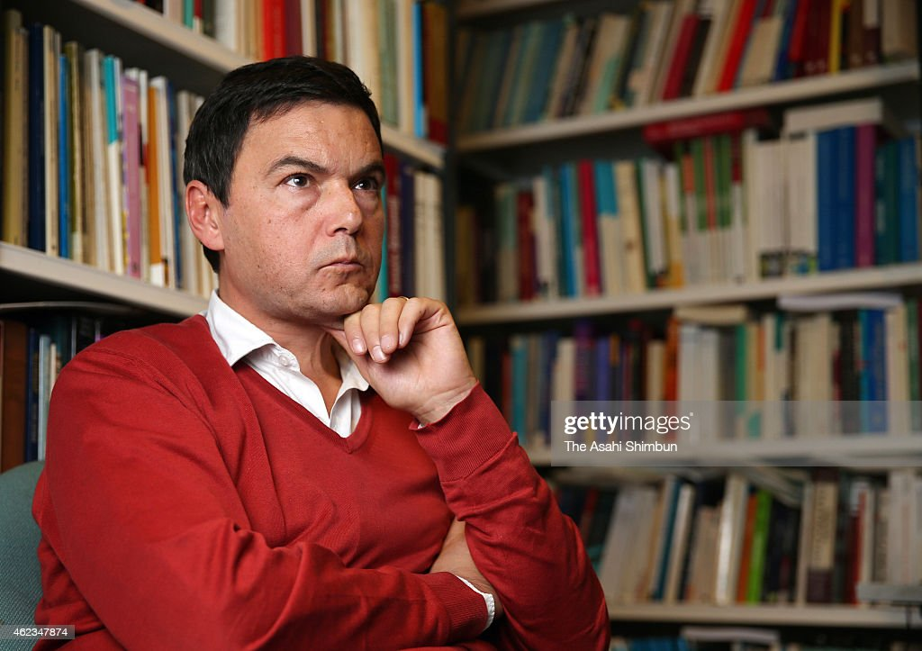 French economist Thomas Piketty speaks during the Asahi Shimbun interview on December 18, 2014 in Paris, France.