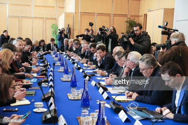 French Economy and Finance Minister Bruno Le Maire attends a meeting about the economic impact of the Coronavirus Covid19 outbreak at the Economy...