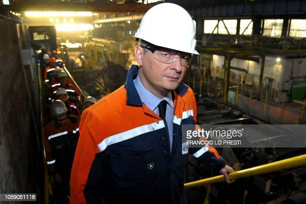 French Economy and Finance Minister Bruno Le Maire visits teh French steel mill Ascoval on November 8 2018 in SaintSaulve northern France On October...