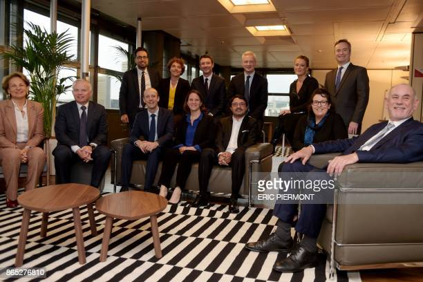 French Economy Minister Bruno Le Maire French Junior Minister for Economy Benjamin Griveaux French Junior Minister for the Digital Sector Mounir...