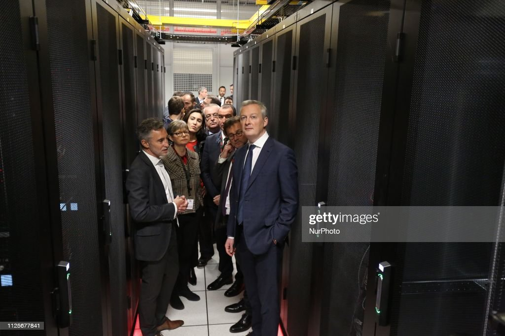 FRA: Inauguration Of A Data Center In The Northen Parisian Of Paris