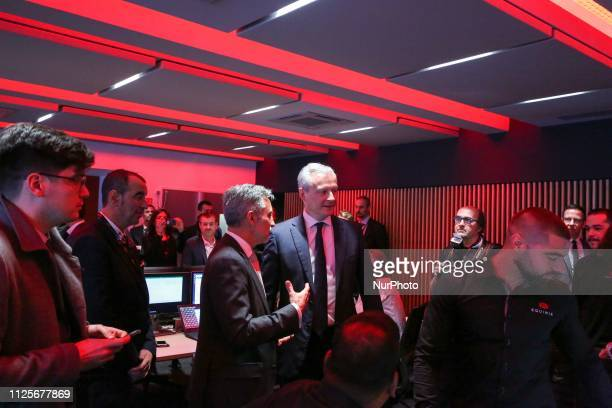 French Economy Minister Bruno Le Maire visits a control center as he inaugurated the Paris Equinix Data Center called PA8 the companys first...