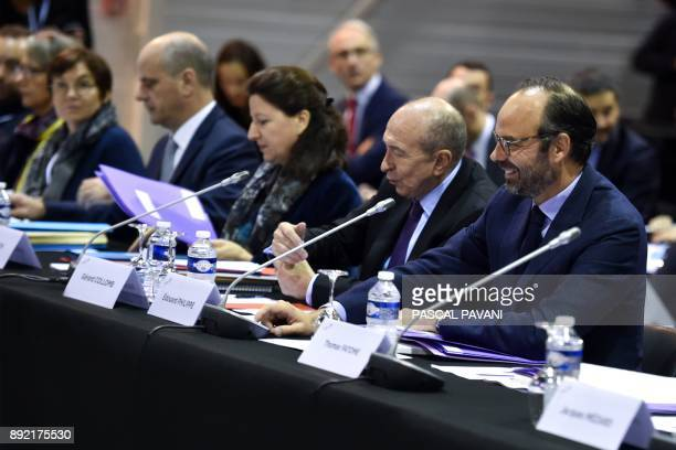 French Education Minister JeanMichel Blanquer French Minister for Solidarity and Health Agnes Buzyn French Interior Minister Gerard Collomb and...