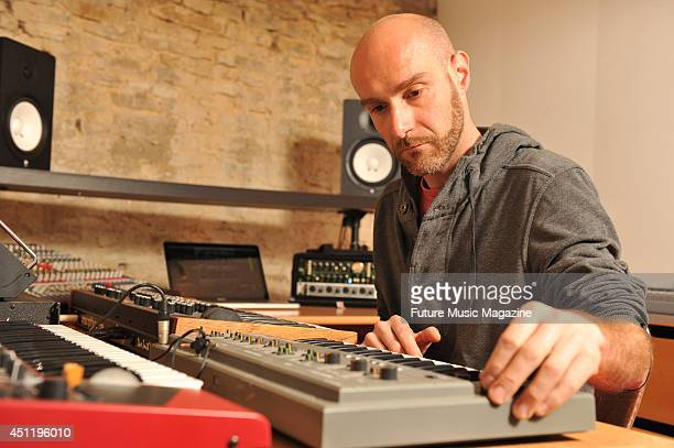 French electronic music artist Vitalic photographed in his home studio during a shoot for Future Music Magazine April 30 2013