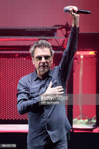 French electronic musician JeanMichel Jarre acknowledges the fans during the first stop of his firstever North American tour on May 9 at Sony Centre...