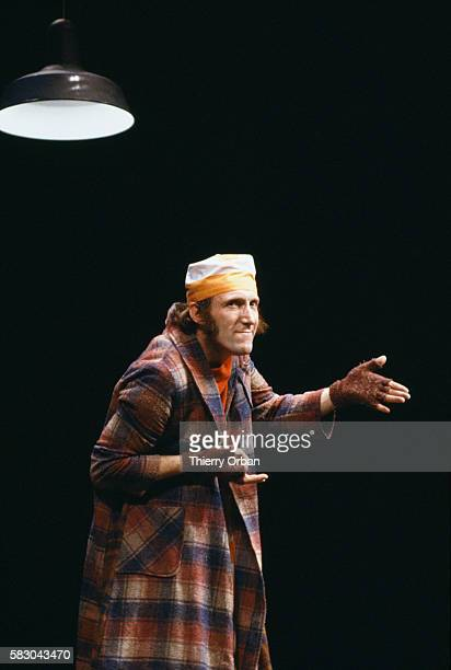 French entertainer Rufus also known as Rufus Narcy performs on stage at the Theatre Antoine in his oneman show entitled A Pleurer de Rire Rufus is...