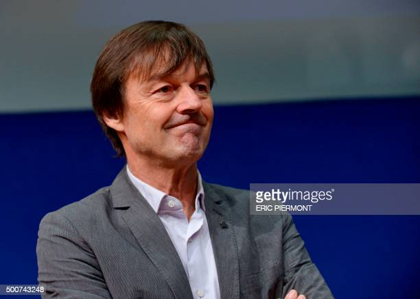 French environmental activist Nicolas Hulot attends the opening of the annual Entrepreneurships Conference on December 10, 2015 at the Economy...