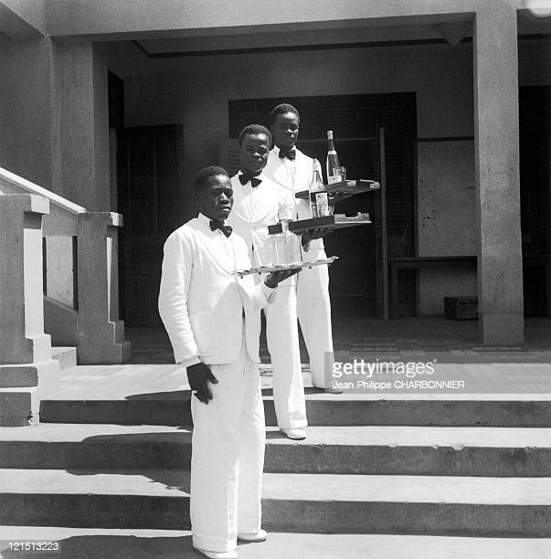 French Equatorial Africa Waiters At The Grand Hotel