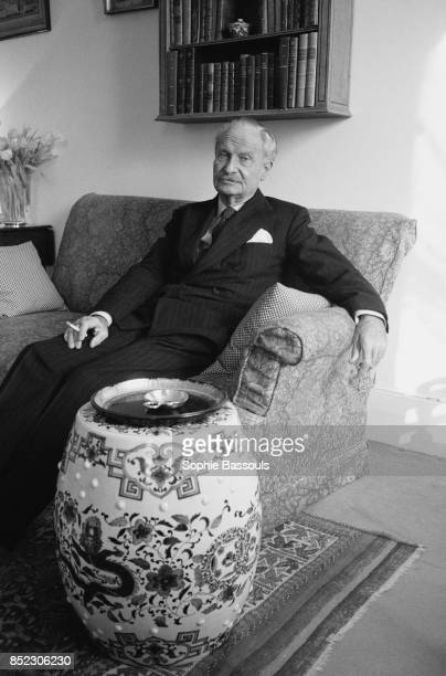 French essayist novelist and historian of literature Michel Mohrt relaxes on a loveseat in Paris He was elected to the Academie Francaise in 1985