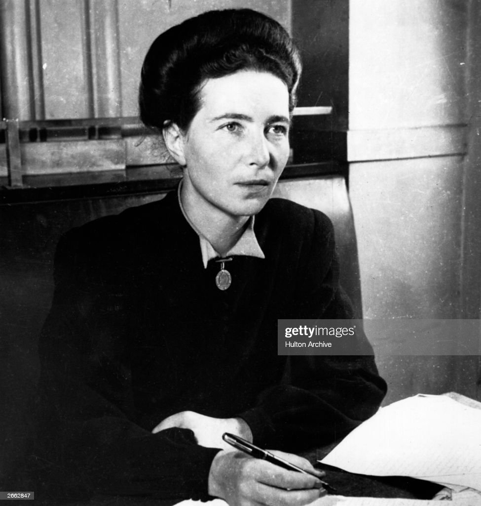 French existentialist writer and feminist Simone de Beauvoir.