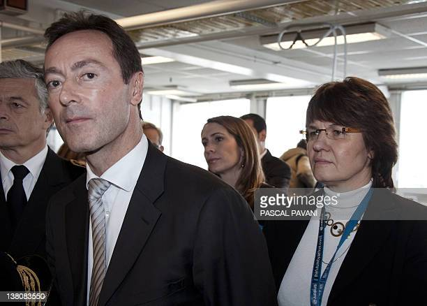French Fabrice Bregier Chief Operating Officer of Airbus the European aircraft manufacturer and the head of the Saint Eloi Airbus plant MarieLaure...