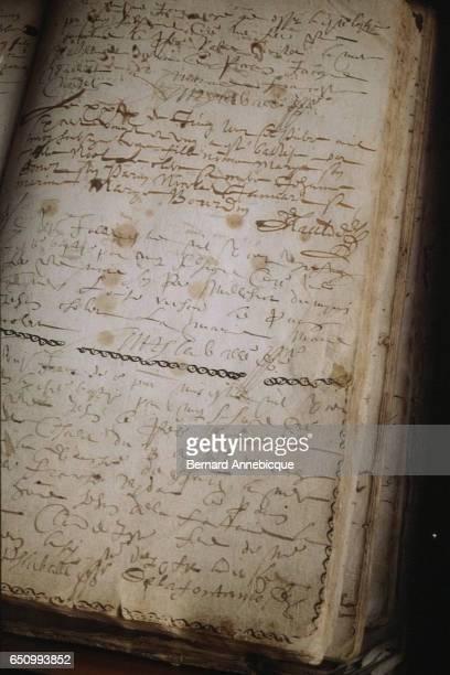 French fabulist and poet Jean de La Fontaine's baptismal certificate