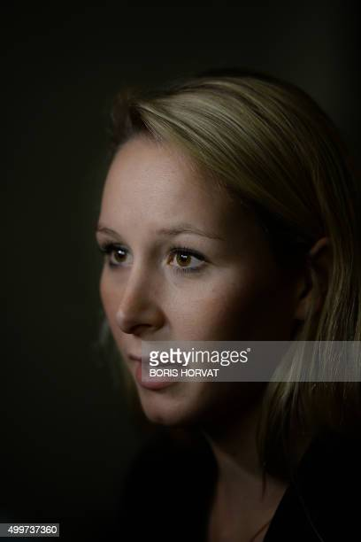 French far right Front National party's Parliament member and candidate for the regional elections in the ProvenceAlpesCote d'Azur region Marion...