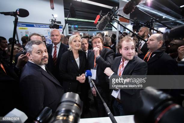 French far right National Front political party leader member of the European Parliament and candidate for the 2017 French Presidential Election...