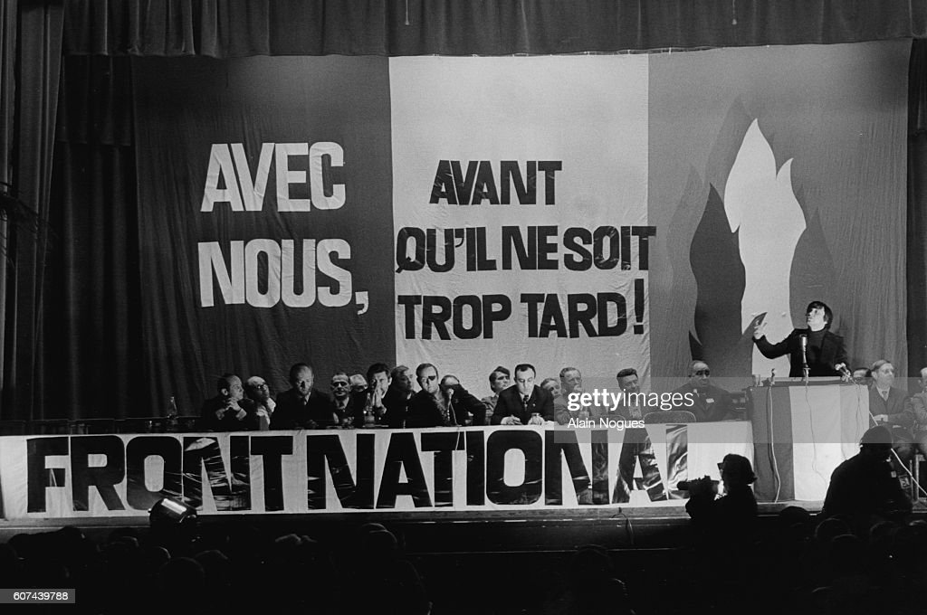 President of the National Front Jean-Marie Le Pen : News Photo