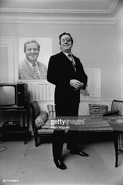French far rightwing and nationalist politician founder and President of the National Front JeanMarie Le Pen in his apartment of Latin Quarter in...