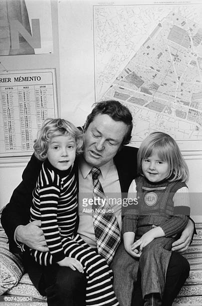 French far rightwing and nationalist politician founder and President of the National Front JeanMarie Le Pen and two of his three daughters Marine et...