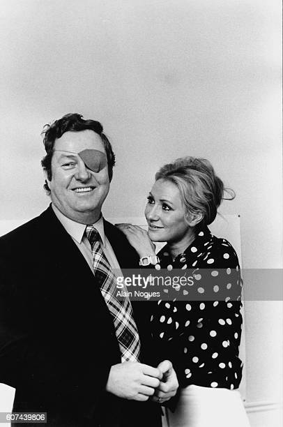 French far rightwing and nationalist politician founder and President of the National Front JeanMarie Le Pen and his wife Pierrette Lalanne in their...