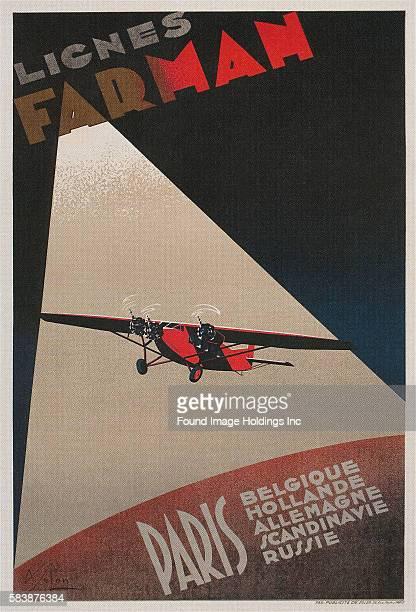 French Farman Airways Poster Vintage Plane