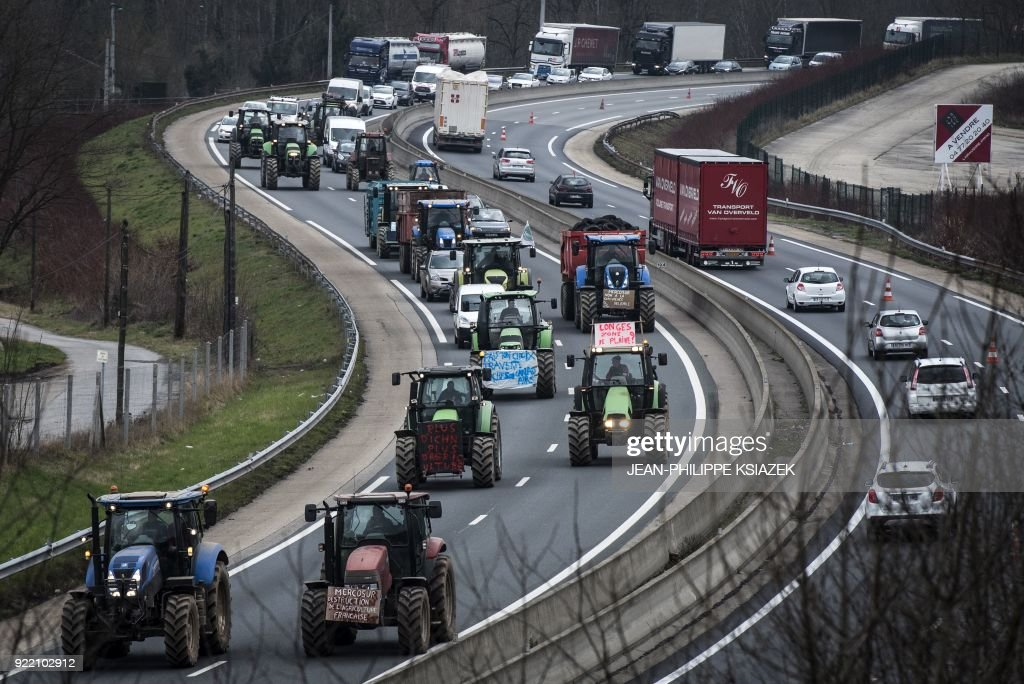 FRANCE-AGRICULTURE-DIPLOMACY-TRADE-DEMO : News Photo