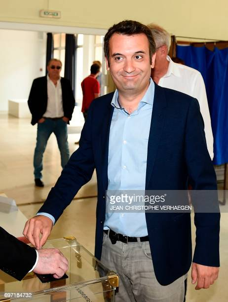 French farright Front National party's vicepresident and FN candidate for the legislative elections in the 6th district of the department of Moselle...