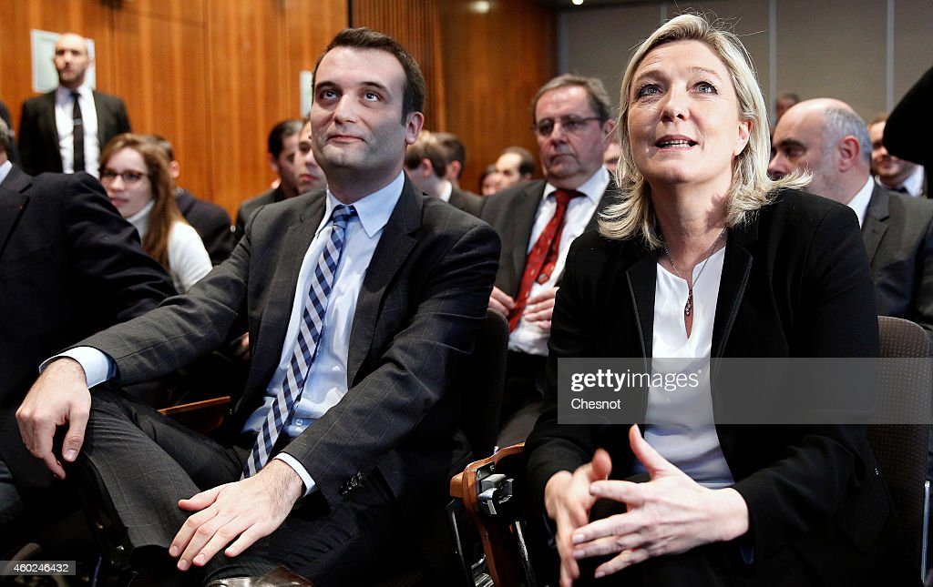 France's far-right National Front Leader Marine Le Pen  Launches 'Le Collectif Ecologie' In Paris