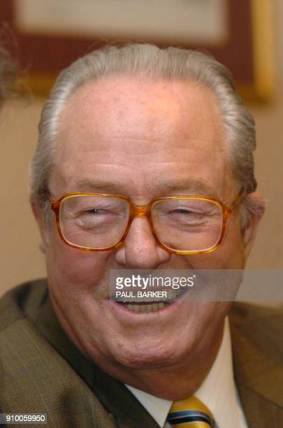 French farright leader JeanMarie le Pen is seen at a press conference held by the British National Party in Manchester 25 April 2004 Le Pen founder...