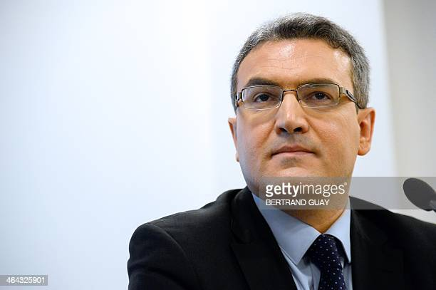 French farright National Front's party candidate for the May 2014 European elections in the Ile de France and French nationals abroad lists Aymeric...