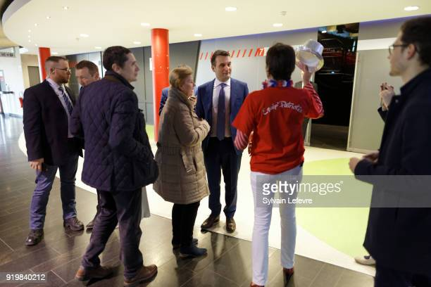 French farright new movement 'Les Patriotes' leader Florian Philippot attends founder congress on February 18 2018 in Arras France
