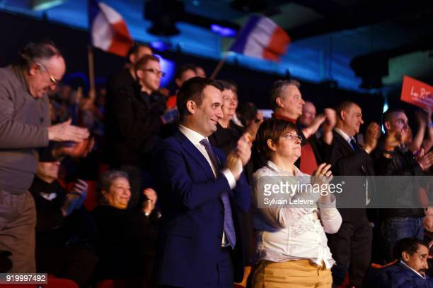 French farright new movment 'Les Patriotes' leader Florian Philippot attends founder congress on February 18 2018 in Arras France