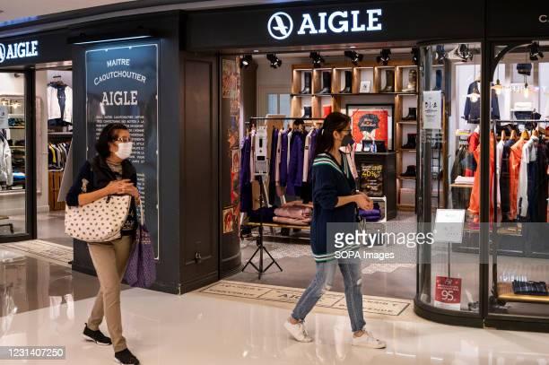 French fashion brand, Aigle store seen in Hong Kong.