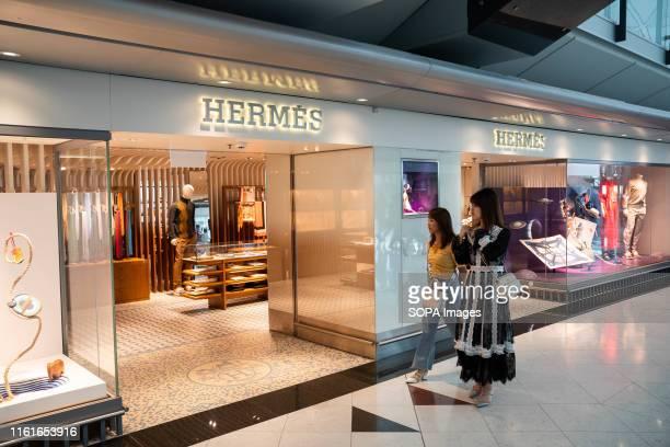 French fashion brand Hermes store seen at Hong Kong airport