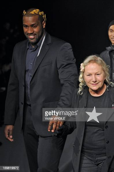 French Fashion Designer Agnes B And French Judo Champion Teddy Riner News Photo Getty Images