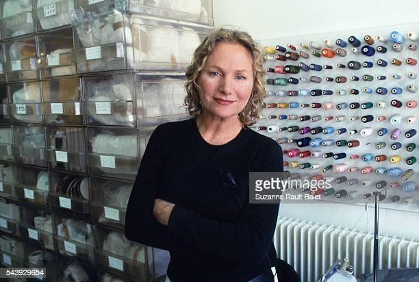 French fashion designer Agnes B before French television show Paris Modes on Paris Premiere