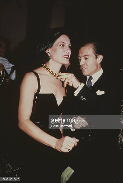 French fashion designer and businesswoman Paloma Picasso and husband playwright Raphael LopezSanchez attend the Met Gala at the Metropolitan Museum...