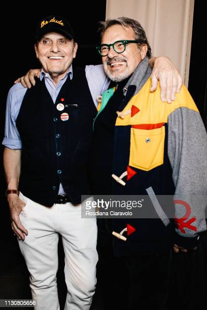 French fashion designer and new artistic director of Italian fashion house Benetton JeanCharles de Castelbajac and Italian Photographer Oliviero...