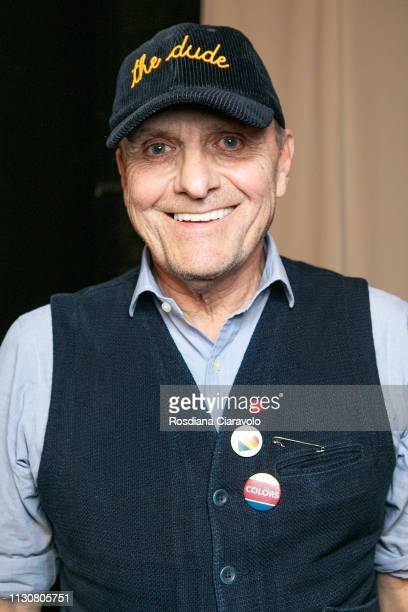 French fashion designer and new artistic director of Italian fashion house Benetton JeanCharles de Castelbajac is seen backstage ahead of the United...