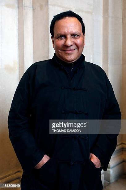 French fashion designer Azzedine Alaia poses at the launching of his exhibition 'Alaia' at the Galliera Palace in Paris on September 25 2013 AFP...