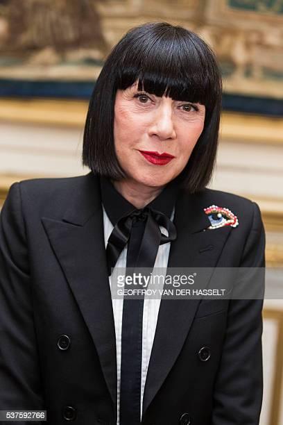 French fashion designer Chantal Thomas poses in Paris on June 02 2016 / AFP / Geoffroy Van der Hasselt