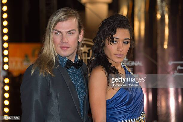 French Fashion Designer Christophe Guillarme and French Actress Josephine Jobert arrive to the Tribute To Chinese Director Zhang Yimou during the...