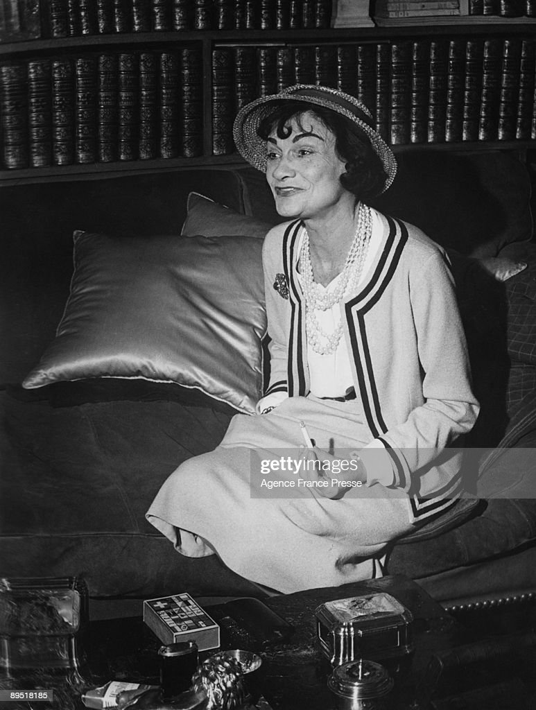1f7fa74a2d5 French fashion designer Coco Chanel in her apartment at the Hotel ...
