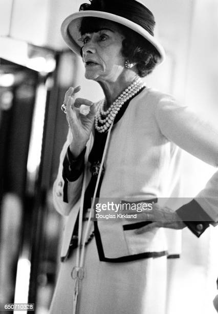 French fashion designer Coco Chanel in July or August 1961