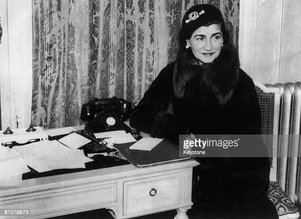French fashion designer Gabrielle 'Coco' Chanel at a London hotel, 1932.