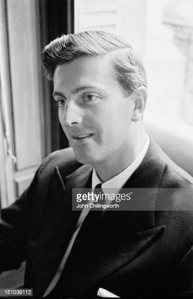 French fashion designer Hubert de Givenchy at his design house at the Plaine Monceau in Paris, 27th October 1955. Original publication: Picture Post...