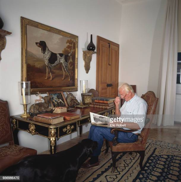French fashion designer Hubert de Givenchy at home the Château du Jonchet in Touraine France 1st October 1995