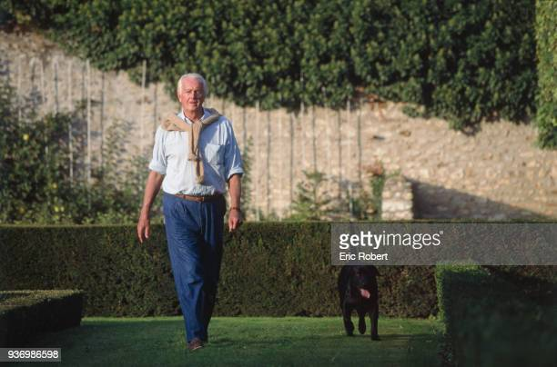 French fashion designer Hubert de Givenchy at home, the Château du Jonchet, in Touraine, France, 1st October 1995.