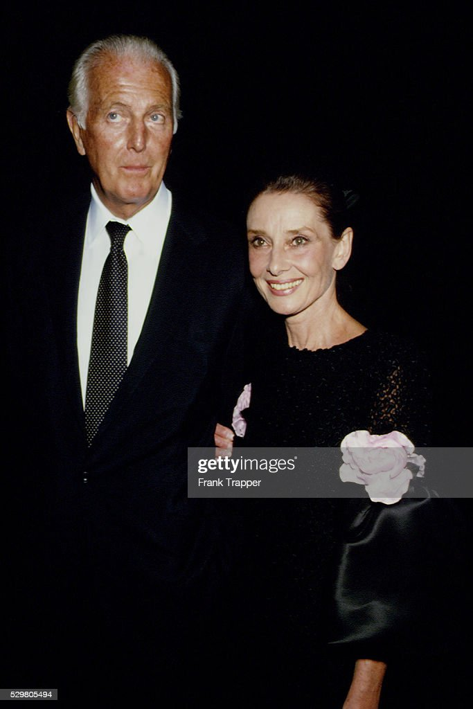 French fashion designer Hubert de Givenchy with British actress Audrey Hepburn.