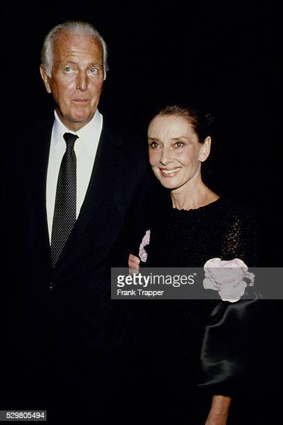 French fashion designer Hubert de Givenchy with British actress Audrey Hepburn