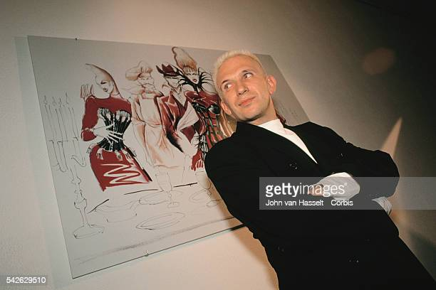 French fashion designer JeanPaul Gaultier attends an exhibition of British director Peter Greenaway's watercolor paintings at the Palais de Tokyo in...
